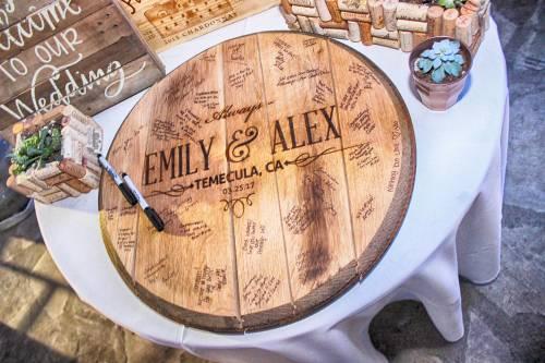 Wedding Guestbook Bourbon Barrel