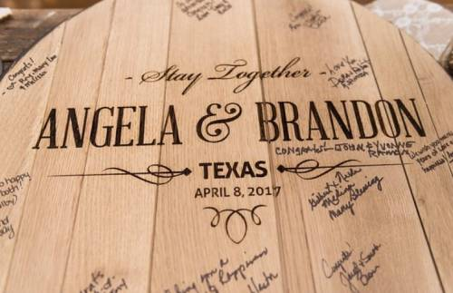Wedding Guestbook Bourbon Barrel
