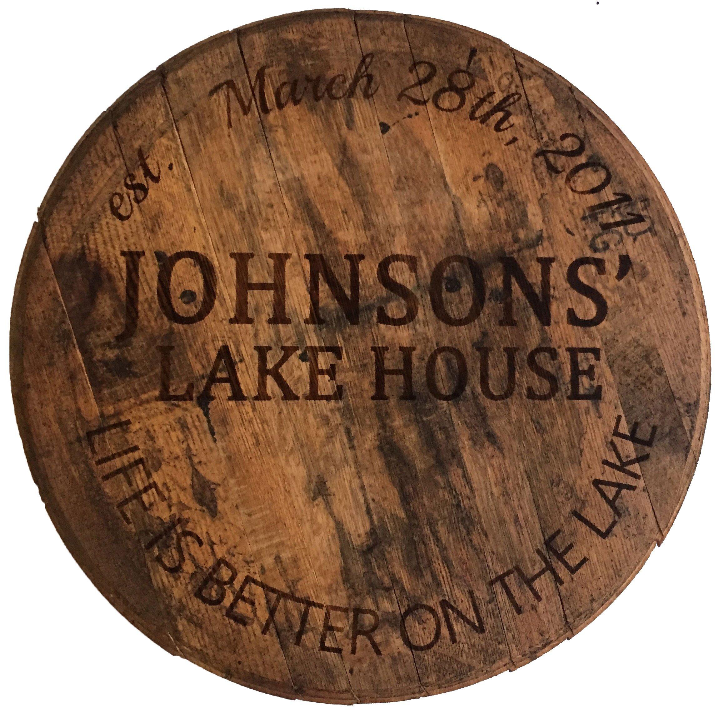 Custom Reclaimed Bourbon Barrel Head Whiskeymade