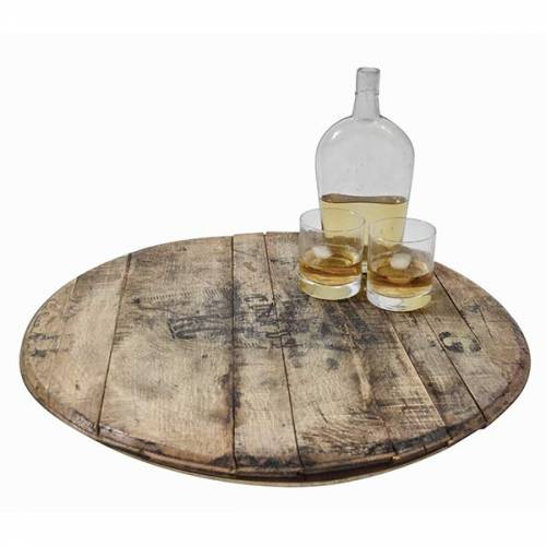 Whiskey Barrel Lazy Susan 2