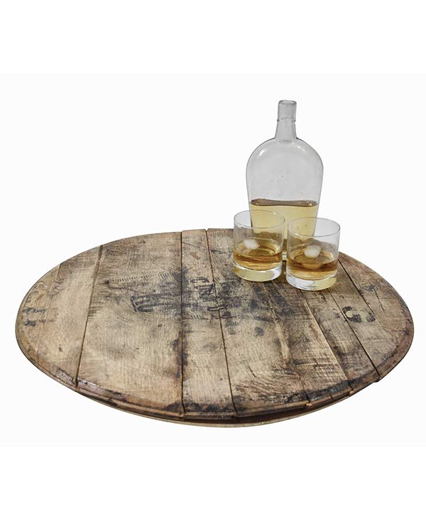 Whiskey Barrel Top Lazy Susan Tyres2c