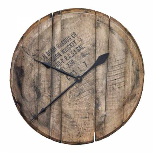 Bourbon Barrel Head Wall Clock 2