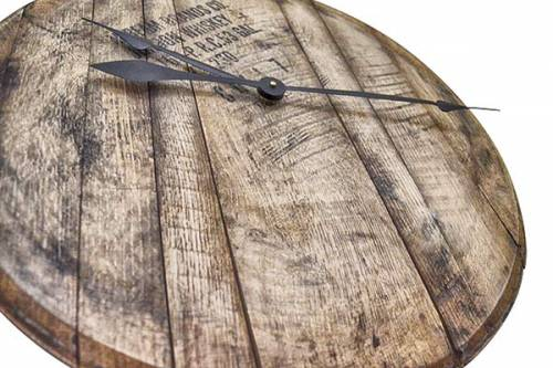 Bourbon Barrel Head Wall Clock 3