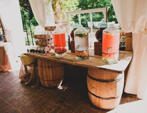 Pink Signature Whiskey Wedding Drinks