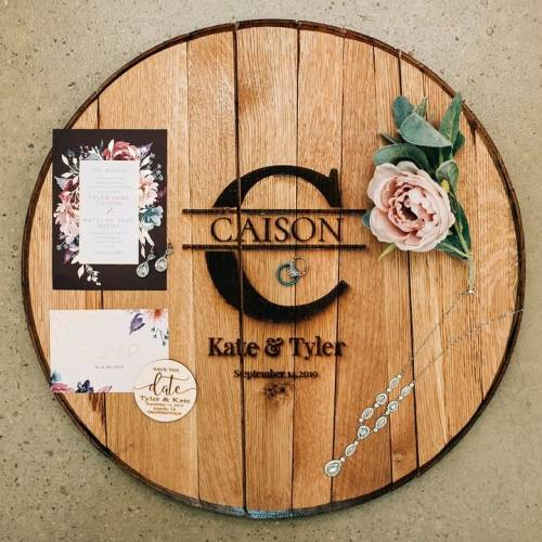 Elegant Large Letter Rustic Wedding Guest Book Alternative with Ornaments