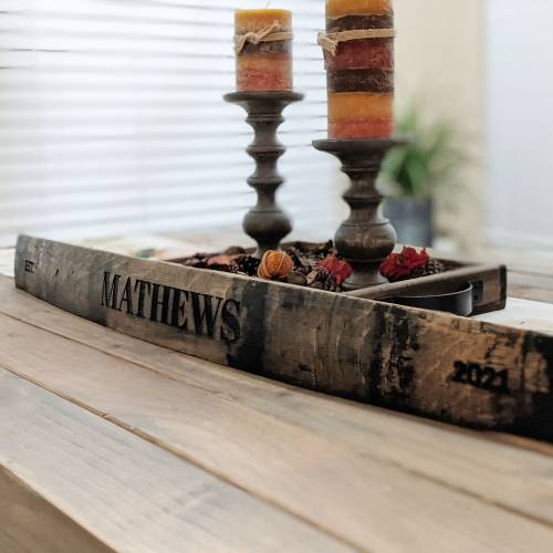 Personalized Bourbon Barrel Stave – Last Name