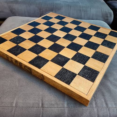 Whiskey Barrel Chess Board