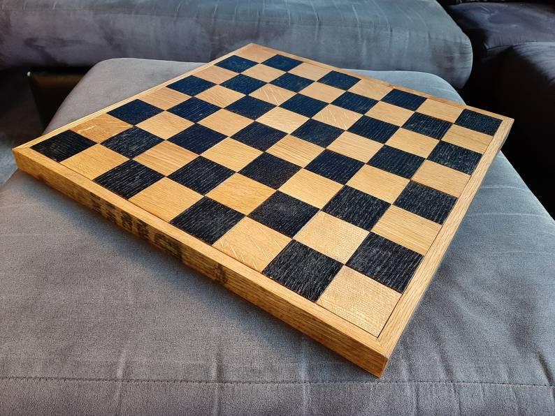 Whiskey Barrel Chess Board