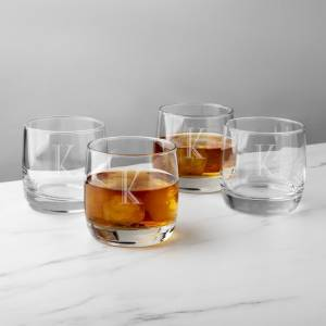 Personalized Heavy-Based Whiskey Glasses - Perfect gifts for groomsmen
