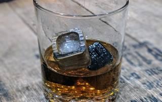 Charred Whiskey Ice Stones