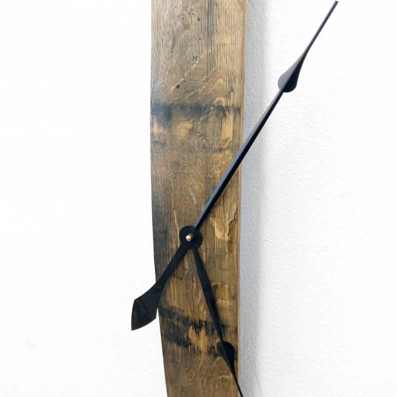 Bourbon Barrel Stave Clock
